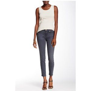 7 For All Mankind Gwenevere Gray Skinny Ankle Jean